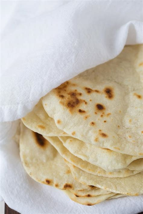 Handmade Flour Tortillas - flour tortillas table for two