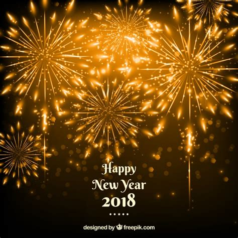 new year 2012 golden new year golden fireworks background vector free