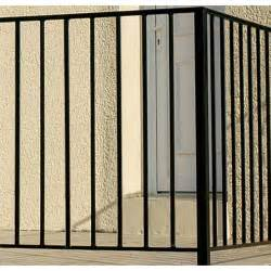 garde corps pour balcon en fer pr 233 peint levant haut 97cm
