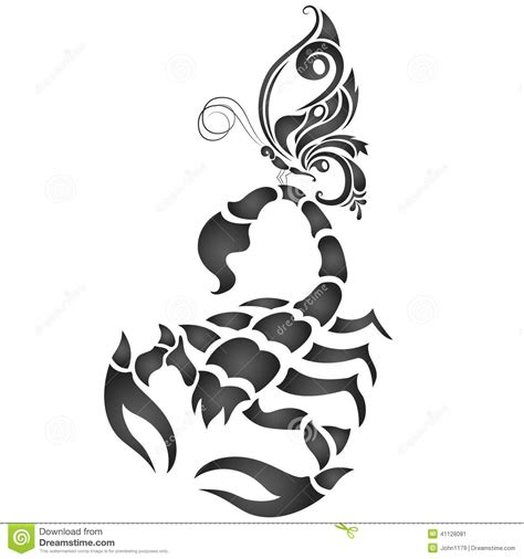 Scorpion Tribal Outline by Scorpion And Butterfly Stock Vector Image Of Insect 41128081