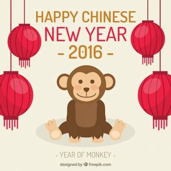 happy money new year stylized belly monkey vector vector free