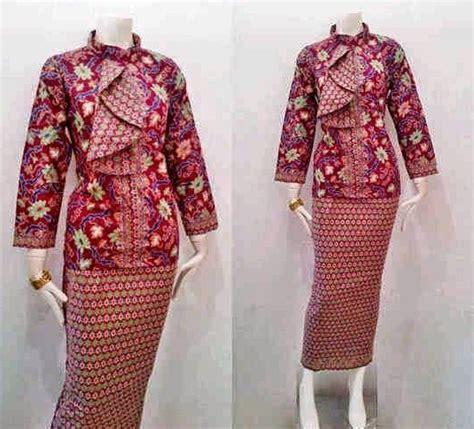 Kebaya Batik Modern Ayunda kombinasi batik dengan kebaya untuk busana ke kantor