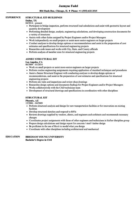 Structural Test Engineer Cover Letter by Eit Resume Sle Resume Ideas