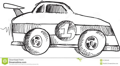 doodle car doodle race car vector stock illustration illustration of