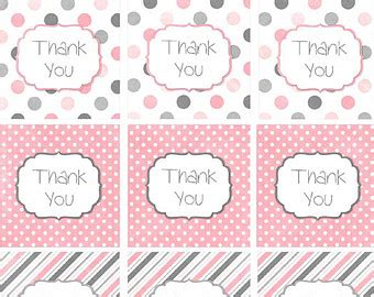 Printable Thank You Tags For Baby Shower Favors by Popular Items For Baby Shower Decor On Etsy