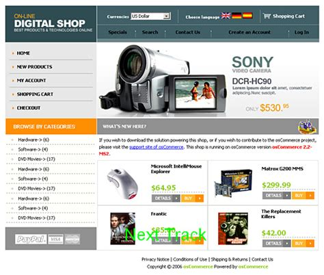1865 oscommerce store oscommerce templates dreamtemplate