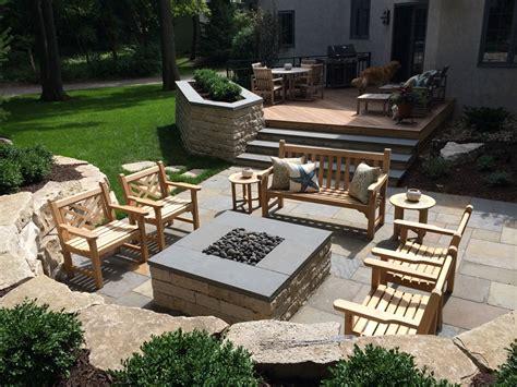 planter pit patio entertainment design minnesota yardscapes