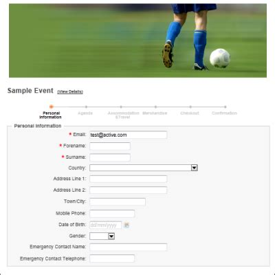 sports management software and online sports event