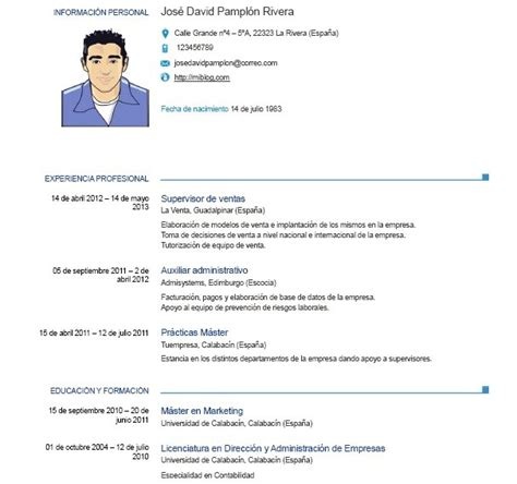 cv europeo word 2016 ejemplos de curriculum vitae europeo en word