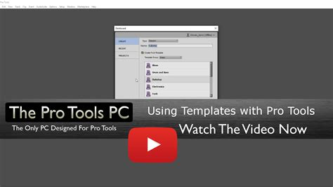 Using Session Templates In Pro Tools The Pro Tools Pc Pro Tools 12 Templates