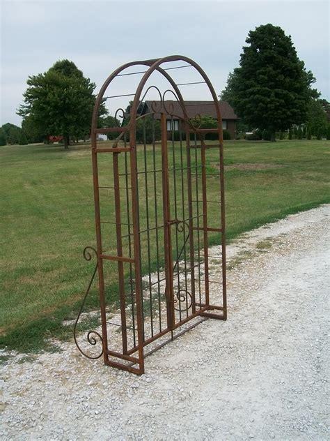 Iron Garden Arbor Gate Wrought Iron 6 Arbor Gate Combo Vintage Garden Arch