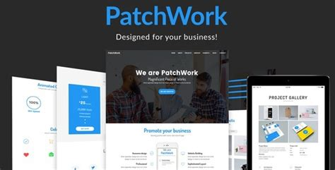 one page parallax template free patchwork one page parallax template