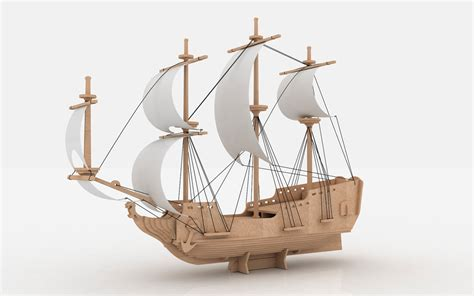 How To Make A 3d Ship Out Of Paper - pirate ship ships boats makecnc