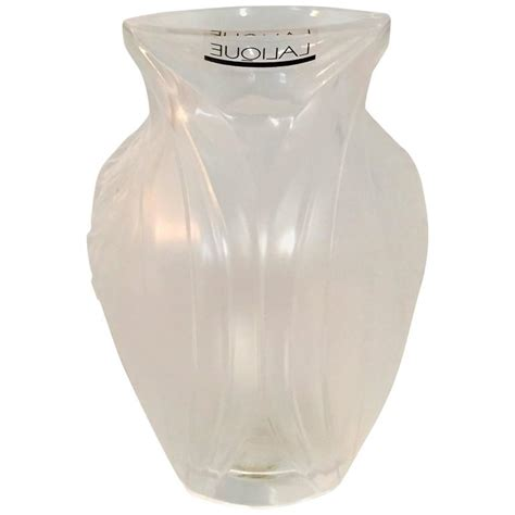 Frosted Vases by Lalique Frosted And Raised Bud Vase For Sale At 1stdibs