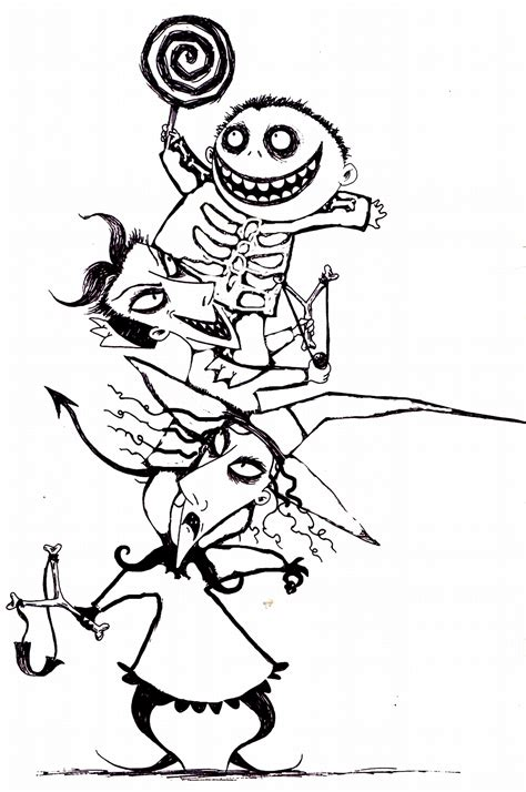 The Nightmare Before Coloring Pages free printable nightmare before coloring pages