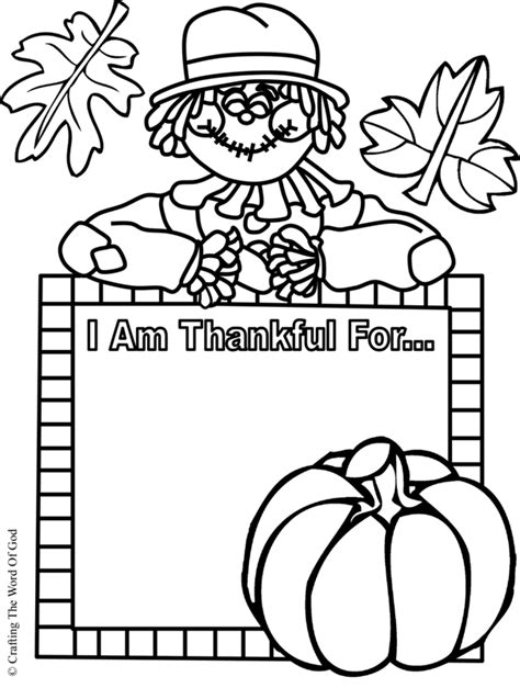i am thankful activity sheet 171 crafting the word of god