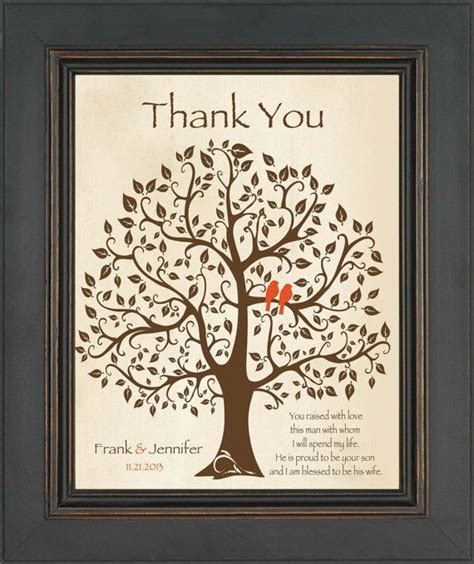 thank you letter to s parents from groom wedding gift for groom s parents future in gift from
