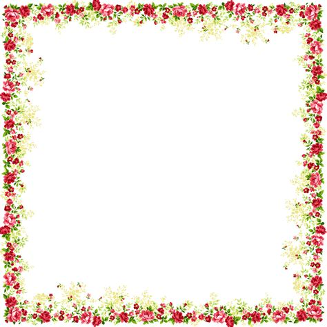 floral pattern border png flower and butterfly border design png
