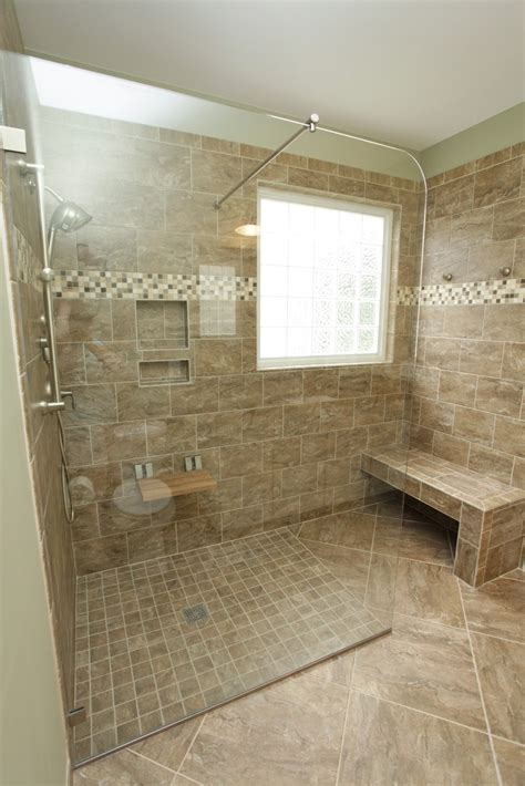 bathroom classy bathroom decoration with rectangular brown tile bathroom wall including brown