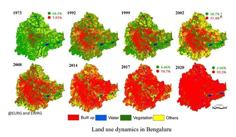satellite images show green cover  bangalore reducing