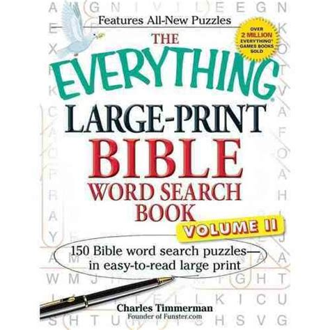 the everything large print tv word search book volume 2 120 must see word searches for tuned inâ tv fans books the everything large print bible word search book 150