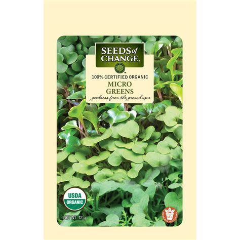 seeds  change micro greens mild mix organic seed