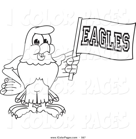 eagle mascot coloring pages vector coloring page of a coloring page outline of a bald