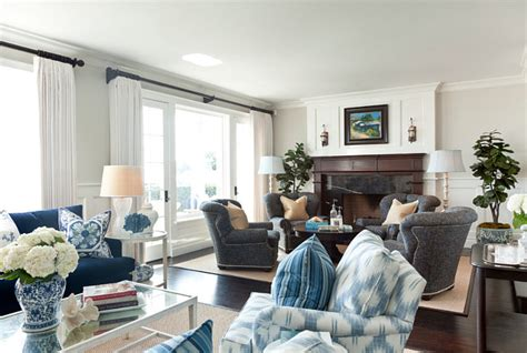blue and white beach house interiors beach house with classic coastal interiors home bunch interior design ideas