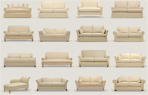 different types of sofas image gallery sofa styles
