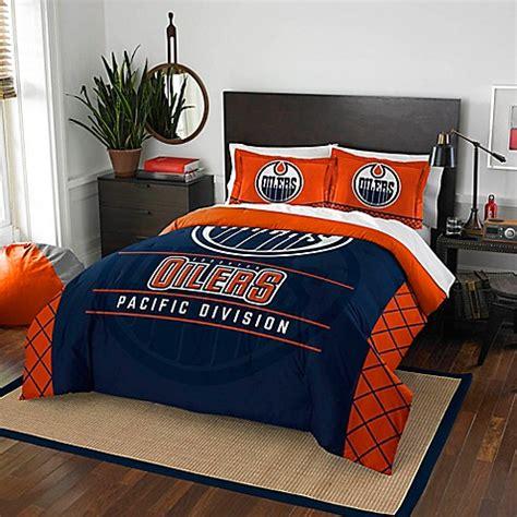 Bedding Sets Edmonton Nhl Edmonton Oilers Draft Comforter Set Bed Bath Beyond