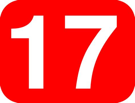 number 17 background clip at clker vector
