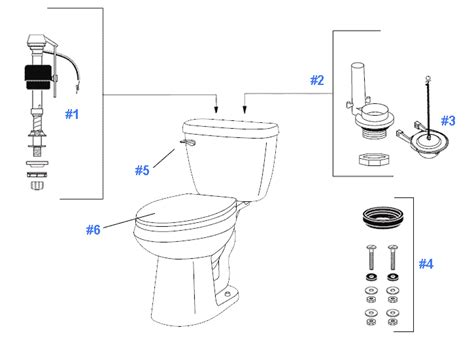 Gerber Plumbing Replacement Parts repair replacement parts for gerber maxwell toilets