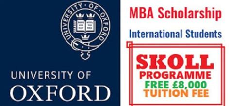 Is The Oxford Mba Worth It by Skoll Mba Scholarships In Social Entrepreneurship 2018