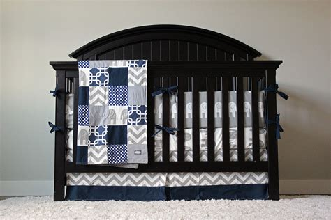 Navy Blue Crib Bedding Set Crib Bedding Baby Bedding Crib Set Navy Blue Chevron And