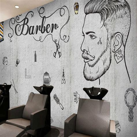 Brick Wall Mural popular barber wall paper buy cheap barber wall paper lots