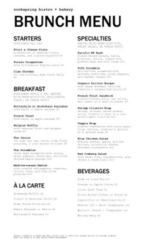 brunch menu template customize restaurant brunch menu