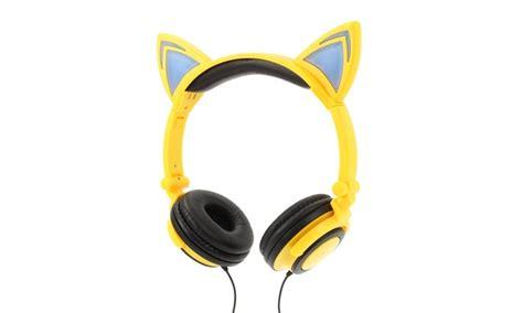 jamsonic dj style light up cat ear headphones 85 on jamsonic light up cat headphones livingsocial