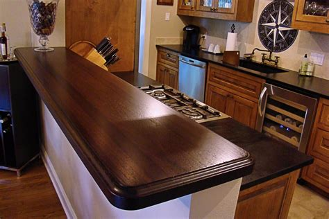Bar Top Edge by Wenge Wood Countertop Photo Gallery By Devos Custom Woodworking