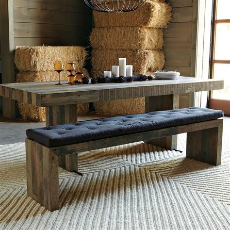 dining room tables with benches and chairs emmerson reclaimed wood dining bench west elm au