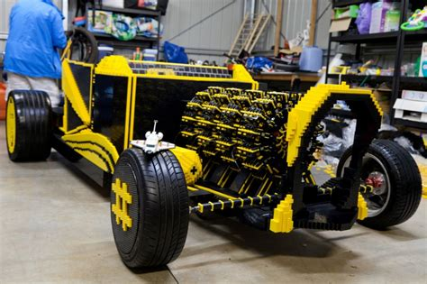 Crowdfunded Full Size Lego Hot Rod Runs On Air: Video