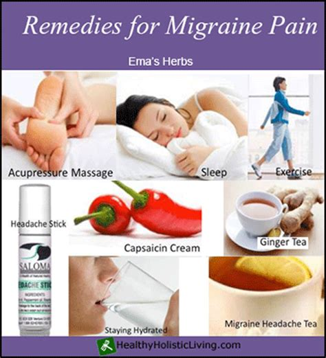 remedies for migraine healthy holistic living
