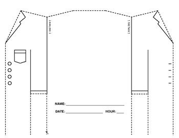 lab coat card template lab coat foldable by kerner teachers pay teachers