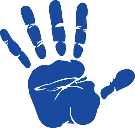 clipart mano vector gratis mano de impresi 243 n palm azul imagen