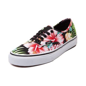 vans flower shoes vans authentic hawaiian floral skate shoe from journeys