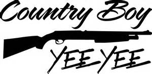 country boy yee yee shotgun decal 22 quot x11 quot and 50 similar items
