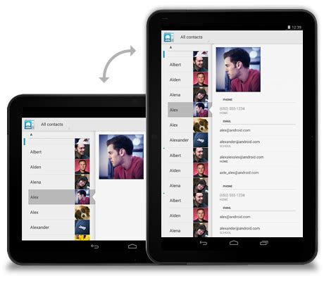 layout app tablet google simplifies android tablet app shopping