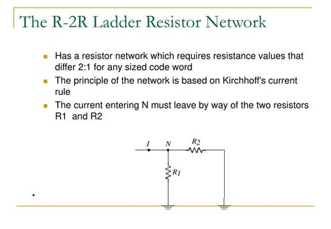 r 2r resistor network ppt digital to analogue conversion powerpoint presentation id 161313