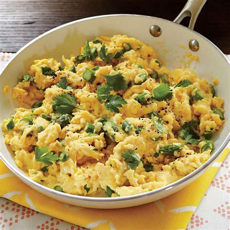 scrabbled eggs recipe soft scrambled eggs with asparagus recipe myrecipes
