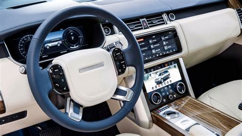 new land rover interior 2018 range rover facelift officially revealed p400e phev