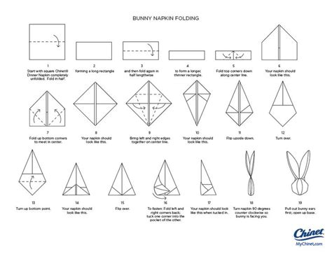 How To Fold A Paper Rabbit - 110 best napkin folding images on
